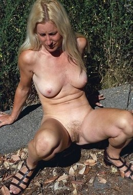 Old granny with her legs wide open ,..