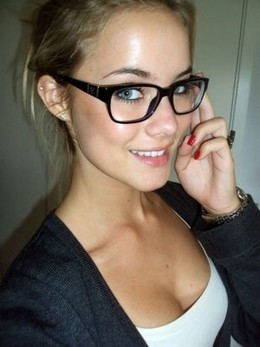 Sexy girl in glasses