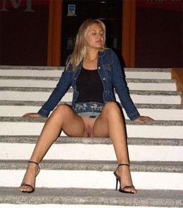 Cute blonde girlfriend spreading legs..