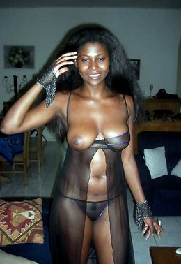 Stunning chocolate skinned in a hot..