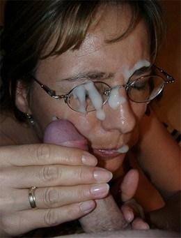 German wife getting a huge facial..