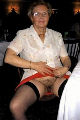 Filthy granny shows her old hairy..