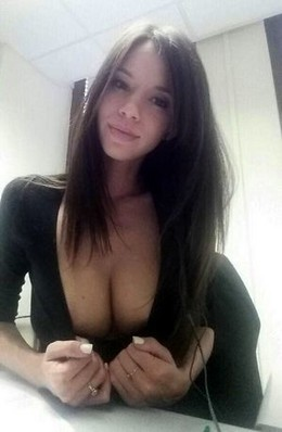 Hot ex-girlfriend selfshot pic with a..