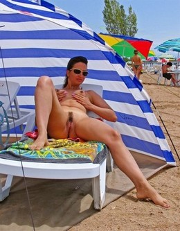 My hot wife on the beach - homemade..