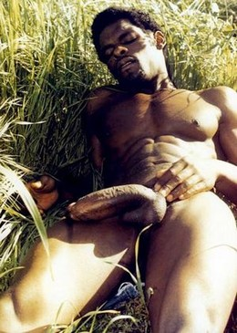 African black guy big cock solo..